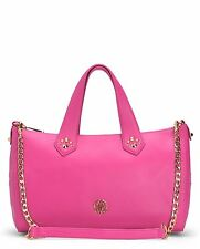 $298 JUICY COUTURE HOLLYWOOD LEATHER SATCHEL Handbag purse Pink