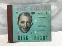 BING CROSBY Merry Christmas w/Andrews Sisters 1945 Decca A-550 4x78 Set VG+