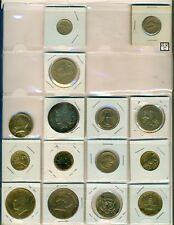 Lot of 15 Canadian & USA Gold Plated Coins  (OOAK)