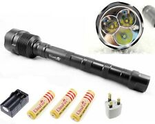 TrustFire 3800LM 3xCR XM-L T6 LED Flashlight Torch+ 3x18650+Charger Waterproof