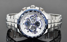 Casio Edifice Men Watch EF-554D-7AV Chronograph Stainless Steel Movement Quartz