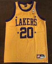 Rare Vintage Nike Rewind NBA 1957 Los Angeles Lakers Gary Payton Jersey