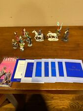 The Enchanted Mountain Franklin Mint Unicorn Painted Pewter Xanth Lot Of 11