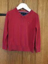 Tommy Hilfiger Lovely Boys Red Jumper Size 98 100% Cotton