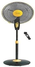 Vguard Pedestal Fan with remote Finesta Yellow Black  (SMP3)