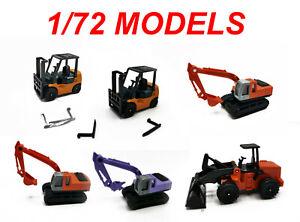 Working machines 1/72 1 72 CARARAMA HONGWELL schuco epoch real-x yujin