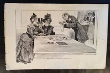 """LARGE (17x11) CHARLES DANA GIBSON PRINT; """"Once More In England""""/rich man/jewelry"""
