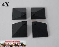 Lego 6x Stein 1x2 Dach schräg negativ 3665 schwarz es322