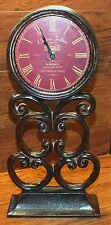 """Chateau Joullian Grand Vin Bordeaux Standing 15"""" Metal Clock **Made In France**"""