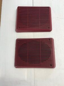 86-92 Ford Ranger Ext. Cab Rear Speaker Grill Covers Red oem