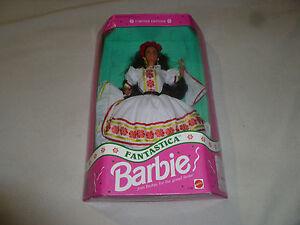 NEW BARBIE DOLL FANTASTICA AUTHENTIC MEXICAN DRESS VINTAGE MATTEL 3196 LE 1992 >