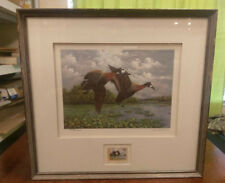 Gerardo Valerio 1992 Costa Rica Conservation Duck Stamp & Print Signed 1258
