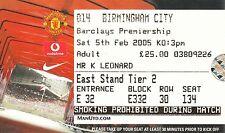 Billete-Manchester United v Birmingham City 05.02.05