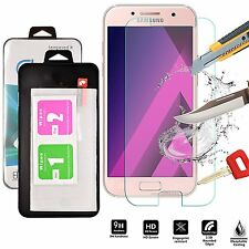 TEMPERED GLASS SCREEN PROTECTOR ANTI SCRATCH FILM For SAMSUNG GALAXY A7 2017 UK