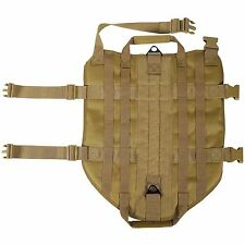 K9 Police Dog Tan LIVABIT Tactical Molle Vest Harness X-Small