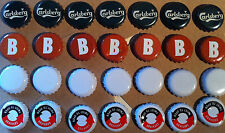 28 Beer Cider Bottle Tops Carlsberg Brothers Initial B Crown Caps Man Cave Bar