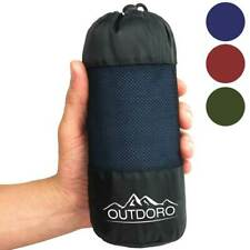 Outdoro Hüttenschlafsack, reine Baumwolle, nur 350 g, leichter Reiseschlafsack