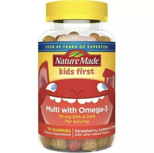 Nature Made Kids First Multivitamin with A, C, D, E and Zinc + Omega-3 with E...