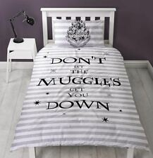 HARRY POTTER SPELL SINGLE DUVET COVER SET BEDDING BOYS GIRLS - 2 IN 1 DESIGN