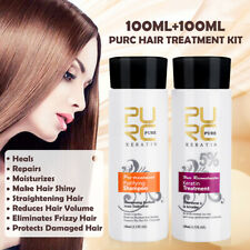 200ml PURC Brazilian Keratin Hair Straightening Treatment Conditioners +Shampoo