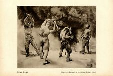 New ways 1938 art print by Michael Lutoff worker muscles male nude Germany gay