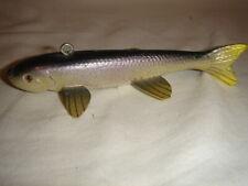 Matt Brown Minnow Fish Spearing Decoy Glass Eyes 2004 Mint