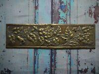 FP146 Reclaimed Salvaged Old Original Door Finger Plate (76 x 276mm)