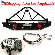 RC Crawler Steel Rear Bumper with Winch Mount Shackles for 1/10 Axial SCX10-US