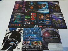 STARGATE SG-1 Ad Collection ~ LOT of 9 ads ~ action figures, television...