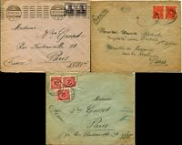 GERMANY to France PARIS Postal Cover Collection Stamps Postage