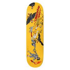 Deathwish Skateboard Deck Death Tag Grey Pearl 7.875 x 31.25 with Grip