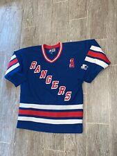 WAYNE GRETZKY Starter New York Rangers Jersey Large Eastern Conference Vintage