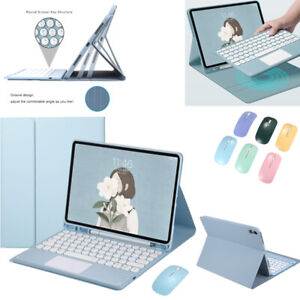 Bluetooth Touchpad Keyboard Case Cover w/ Mouse Fr iPad Air Pro 9.7 10.2 10.5 11