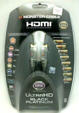 Monster Cable Black Platinum 16ft 4K Ultra HD HDMI Cable