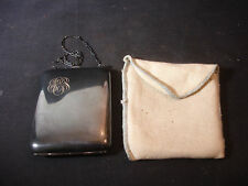 """EAM Metal Initial """"EGS""""? Change Coin Purse Bill Holder With Mirror Compact Chain"""