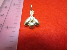 "14 KT GOLD PLATED ABOUT 3/4"" SMALL  BOWLING PINS AND BALL CHARM PENDANT-A103"