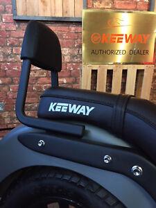 Sissy bar with back rest black for Keeway Superlight 125