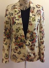 Cotton Floral Regular Size Suits & Blazers for Women
