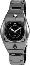 Akzent Herrenuhr analog Metall Armbanduhr schwarz Anthrazit