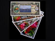SET OF 4 ($1-$10) NEW COLORFUL PIWI ISLAND LOVEBIRD POLYMER FANTASY ART NOTES!