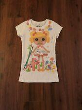 Girls Size Medium 7/8 Short Sleeved Shirt Spot Splatter Splash Lalaloopsy