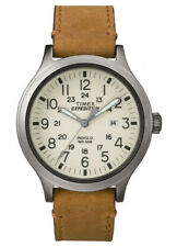 Timex TW4B06500 Men's Expedition Scout Military Indiglo Brown Leather Band Watch