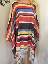 Mexican Poncho Wild West Cow Boy Adult Bandit  Dress Up Costume