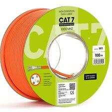 100m cat7 Cavo Rete LAN Cavo dati Cavo Posa RAME S-FTP/PIMF CAT 7