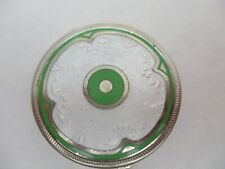 "Art Deco Guilloche 2"" Diameter COMPACT w/ Mirror & Powder Puff -- GORGEOUS!"