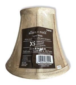 allen + roth 5-in x 6-in Silken Toast Fabric Bell Lamp Shade Extra Small NWT