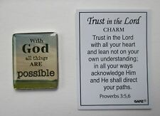 e With God all things are possible TRUST in the LORD Pocket Charm Ganz scripture