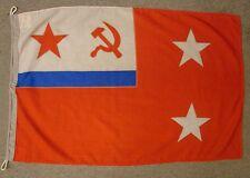 Soviet Naval Flag 2-STAR ADMIRAL USSR NAVY Squadron Commander Original 1984 3x2'