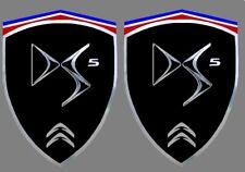 2 adhésifs sticker noir chrome CITROEN DS5  (idéal ailes avant)