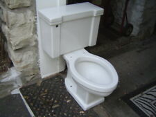 VINTAGE 1950's ONE FLUSH American Standard F 4033 toilet ELONGATED BOWL!  WHITE